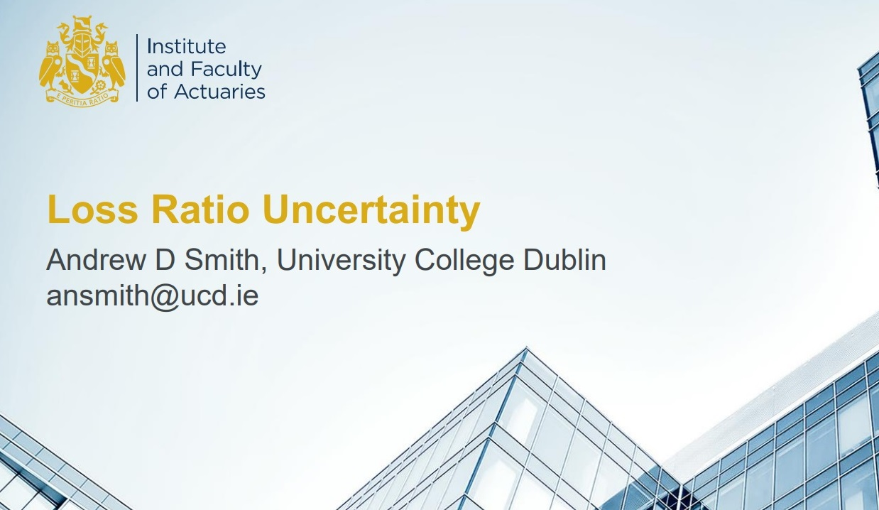 Loss Ratio Uncertainty: Excel Workshop